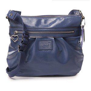 Coach Poppy Daisy Blue Liquid Gloss Crossbody Bag